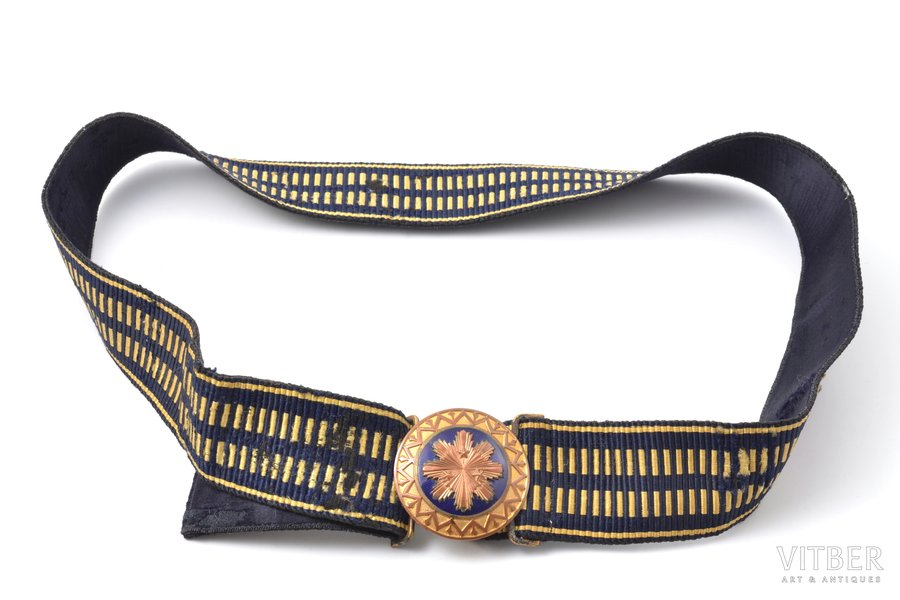 officer's belt, Latvian Army, lenghth 107 cm, Latvia, the 20-30ties of 20th cent.