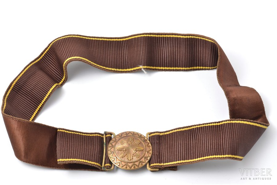 soldier's belt, Latvian Army, lenghth 94 cm, Latvia, the 20-30ties of 20th cent.