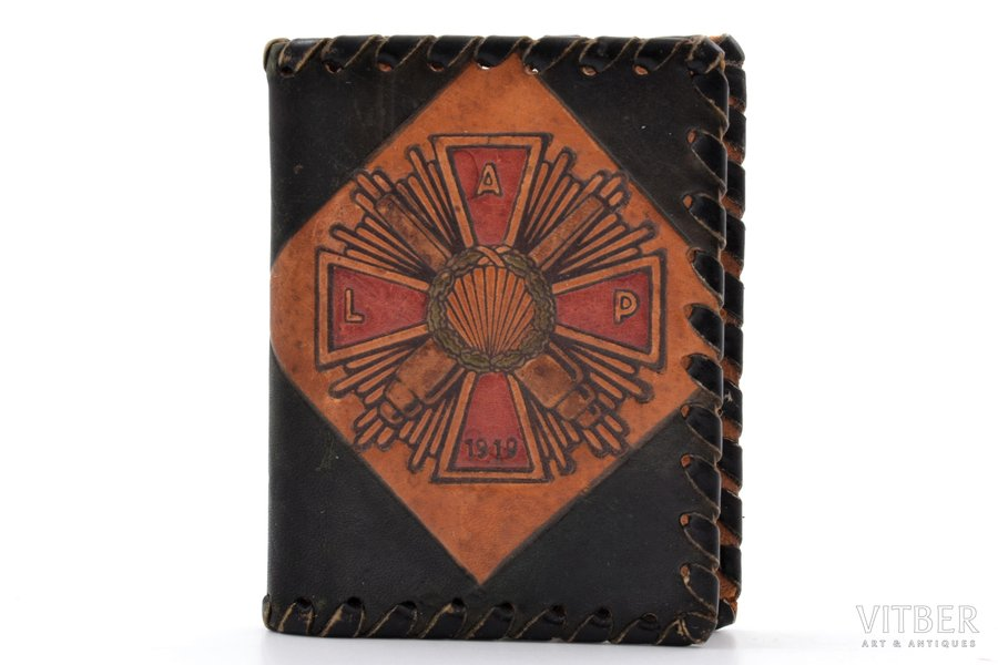 notepad, Latgale Artillery Regiment, 5.7 x 4.4 cm, Latvia, the 20-30ties of 20th cent.