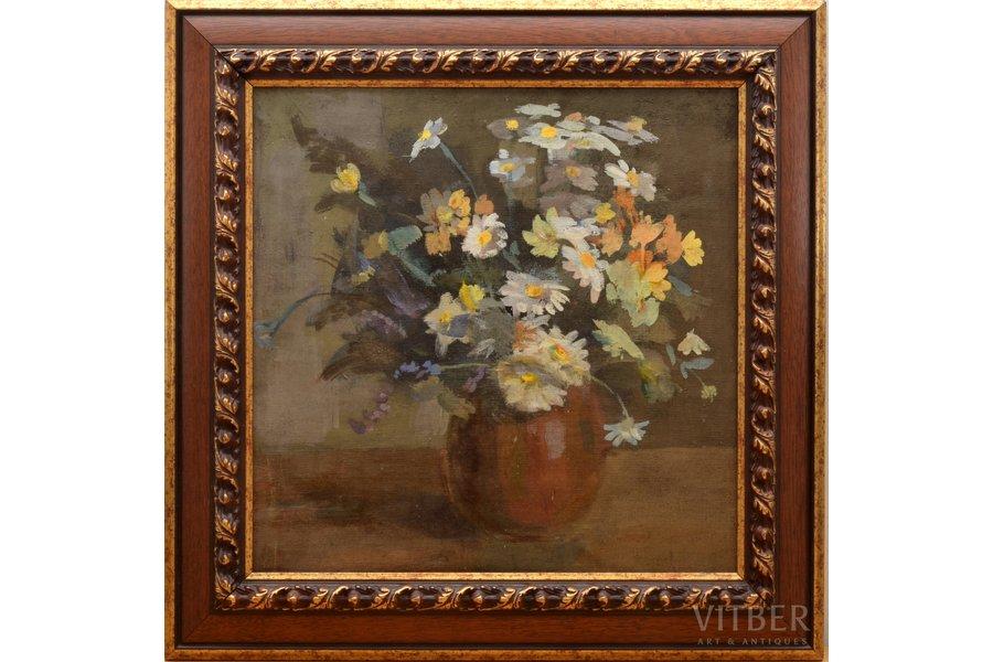 """Vecozols Imants (1933), """"Flowers"""", canvas, oil, 50 x 50 cm"""