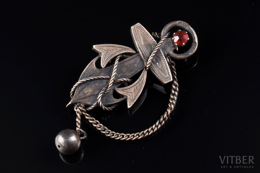 "a brooch, ""Anchor"", silver, 84..."