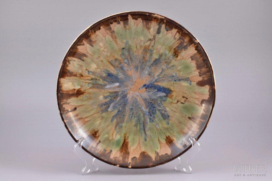 decorative plate, porcelain, J.K. Jessen manufactory, Riga (Latvia), 1933-1935, Ø 26.8 cm