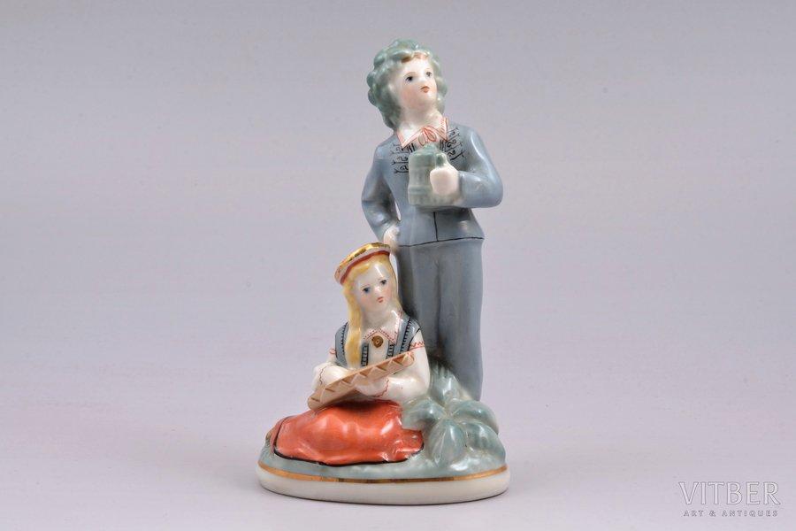 figurine, Līgo, porcelain, Riga (Latvia), USSR, Riga porcelain factory, molder - Ilga Vanaga, the 50-60ies of 20th cent., 13.2 cm, top grade