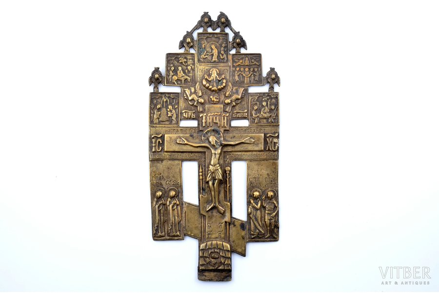 cross, The Crucifixion of Christ, copper alloy, Russia, the 18th cent., 25.8 x 12.5 cm, 415.45 g.