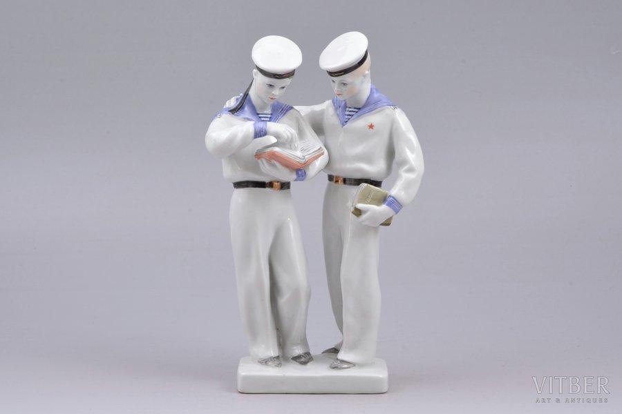 figurine, Nakhimov Sailors, porcelain, USSR, LFZ - Lomonosov porcelain factory, molder - S.B. Velihova, the 50ies of 20th cent., 19 cm