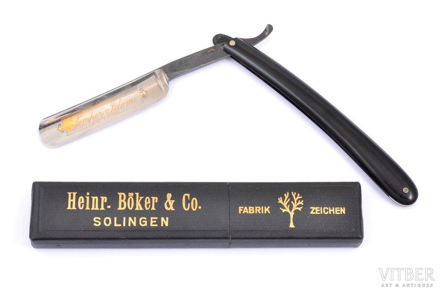 skuveklis, Heinr. Boker & Co, Solingen, oriģinālā futlārī, Vācija