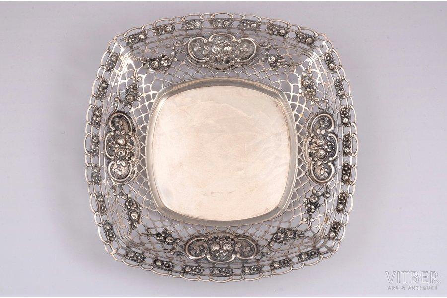 candy-bowl, silver, 800 standart, 229 g, 19.6 X 19.6 cm