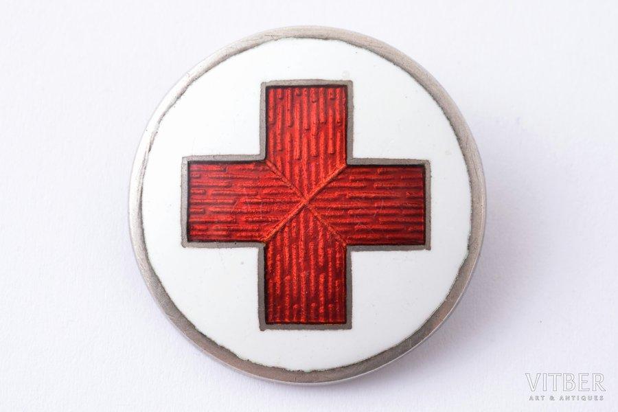 badge, Red Cross, Ø 25.8 mm