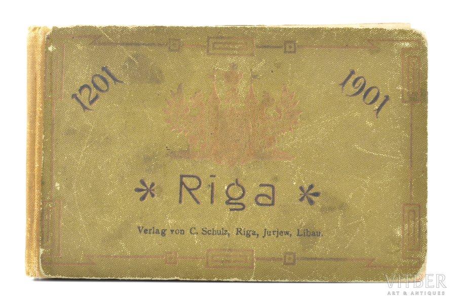"""""""Riga 1201-1901"""", photo album, 1901, Verlag von C. Schulz, Riga, 16 pages"""