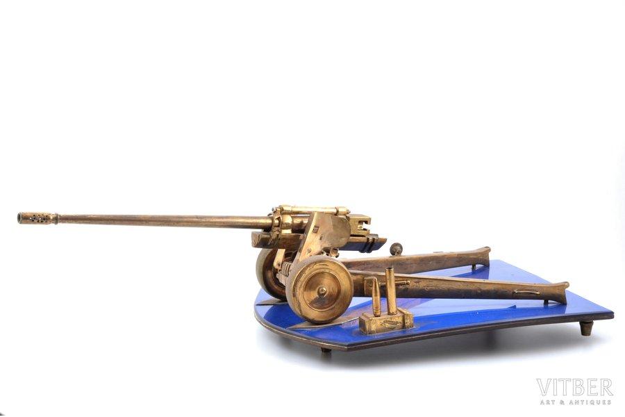 dāvinājuma lielgabals, 130-mm М-46, metāls, PSRS, 20 gs. 50tie gadi, 16.5 x 58 x 26 cm, svars 4250 g