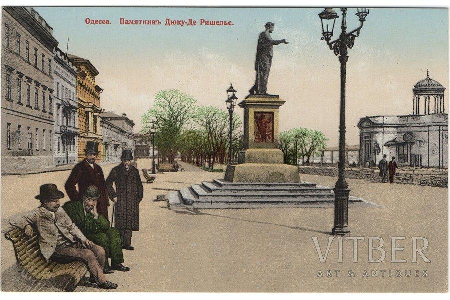 postcard, Odessa, Duke de Richelieu Monument, Russia, beginning of 20th cent., 8,8 x 13,9 cm
