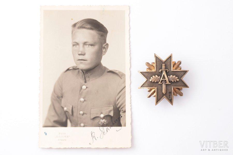 badge, a photo, Aizsargi (Defenders), № 925, silver, 875 standart, Latvia, 20-30ies of 20th cent., 48.5 x 47.7 mm