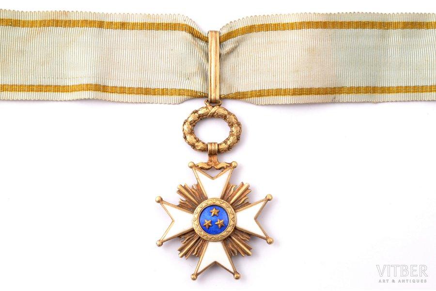 "the Order of Three Stars, 3rd class, silver, guilding, enamel, 875 standart, Latvia, 1924-1940, ""Vilhelms Fridrichs Müller"" manufactory"