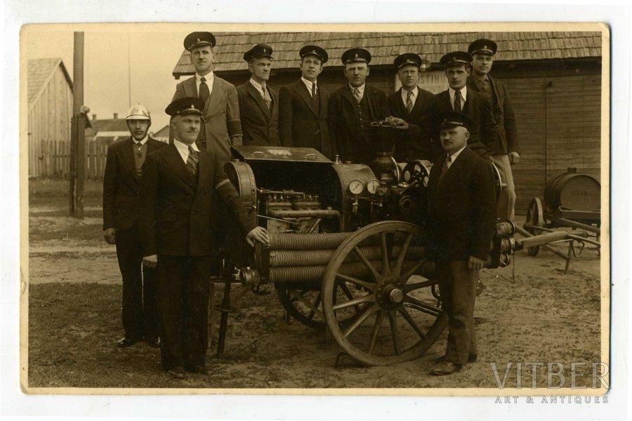 fotogrāfija, ugunsdzēsēji, Latvija, 20. gs. 20-30tie g., 13,5x8,5 cm