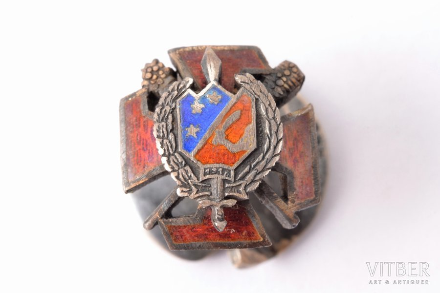tailcoat badge, Cēsis company, Latvia, 20-30ies of 20th cent., 11.9 x 11.3 mm