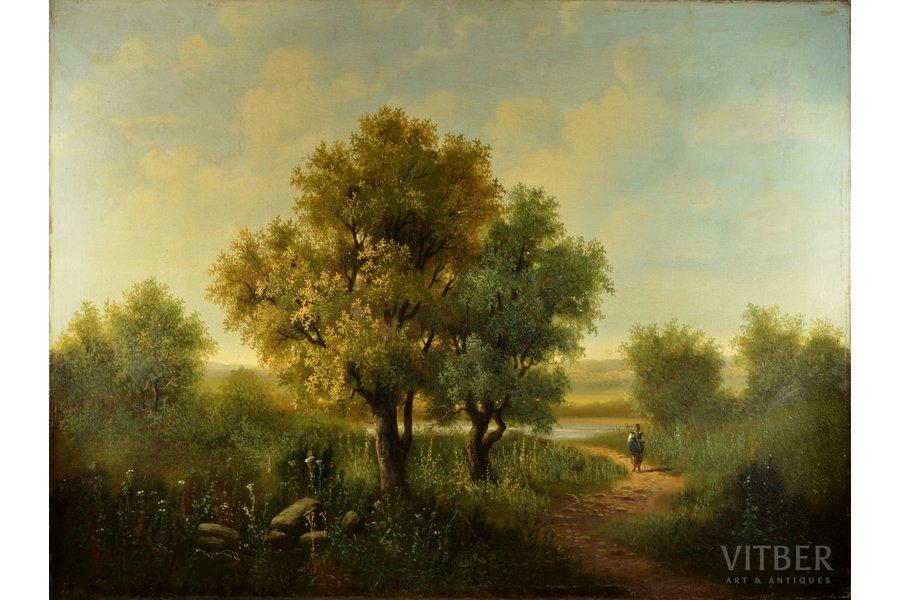 """unknown author, """"Landscape"""", canvas, oil, 75 x 100.5 cm"""