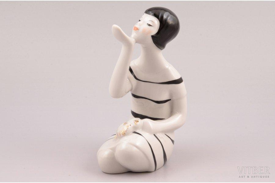 figurine, Dandelion, porcelain, Riga (Latvia), USSR, Riga porcelain factory, signed painter's work, molder - Aina Mellupe, 1948-1970, 14 cm, first grade