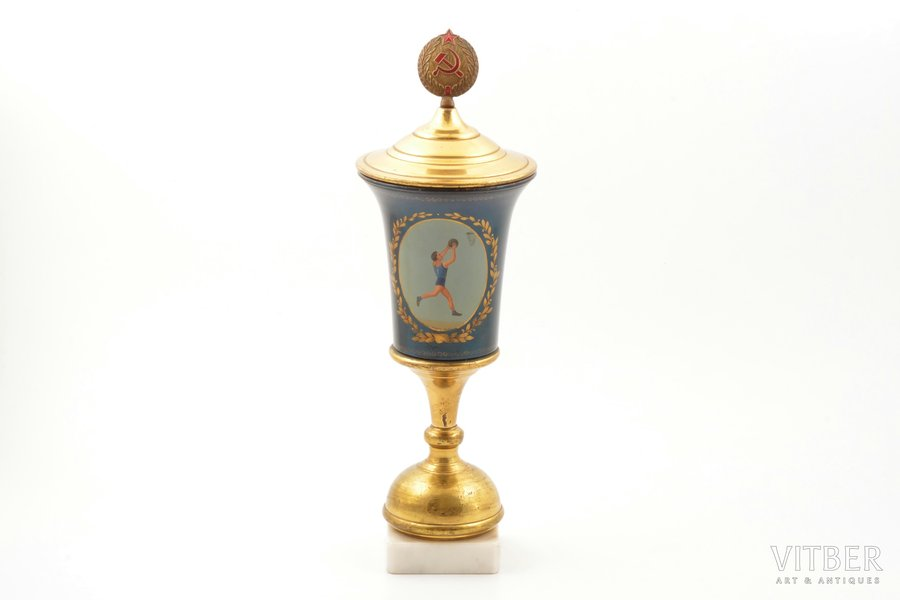 cup, Basketball, Palekh(?), USSR, 1960, h 32.8 cm