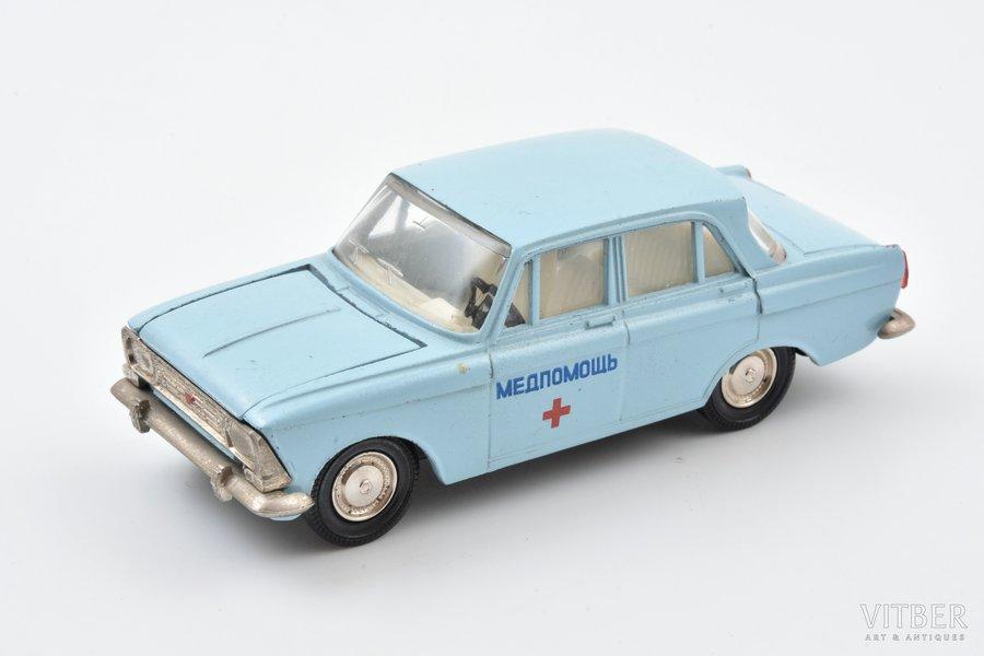 "car model, Moskvich 408 Nr. А1, ""Medical service"", metal, USSR, 1983-1987"