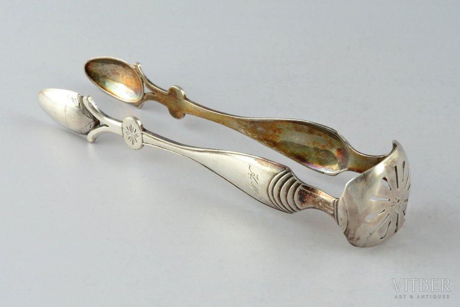 sugar tongs, silver, 32.85 g, 13.2 cm, small defects