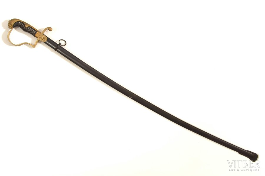 sabre, World War I, artillery, total length 96 cm, blade length 82.5 cm, Prussia, the beginning of the 20th cent.