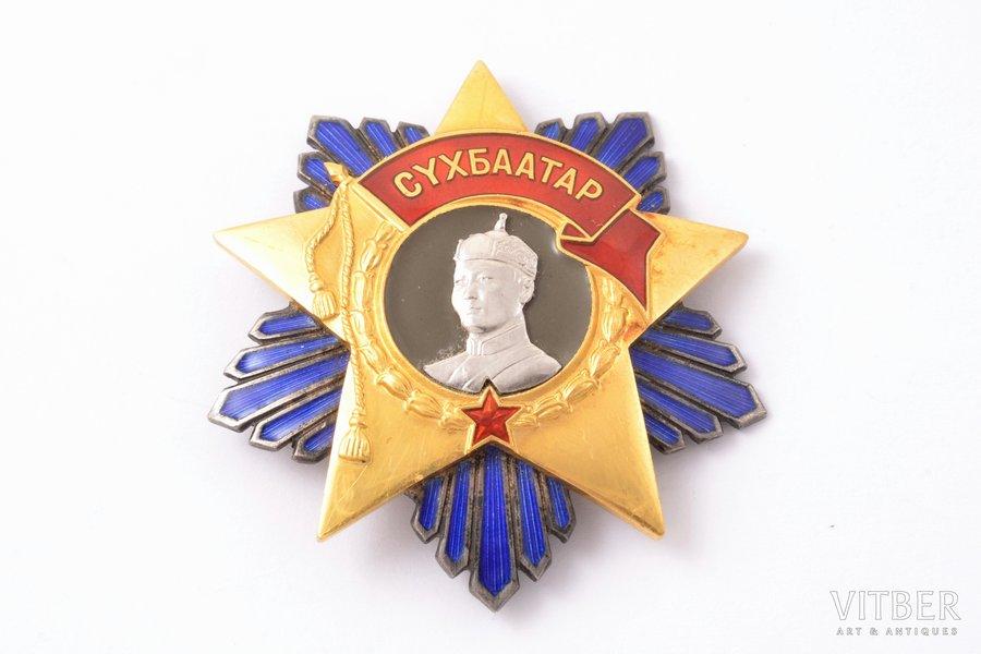 Order of Sukhbaatar, № 1910, Mongolia, 53 x 50.8 mm