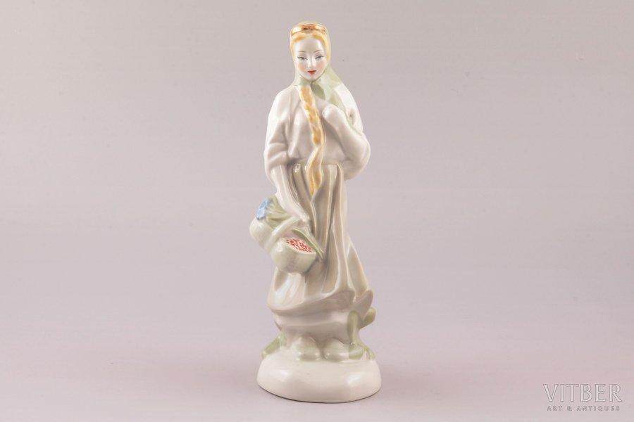 figurine, Baibinja, porcelain, Riga (Latvia), USSR, Riga porcelain factory, molder - Rimma Pancehovskaya, the 50ies of 20th cent., h 21.2 cm, second grade