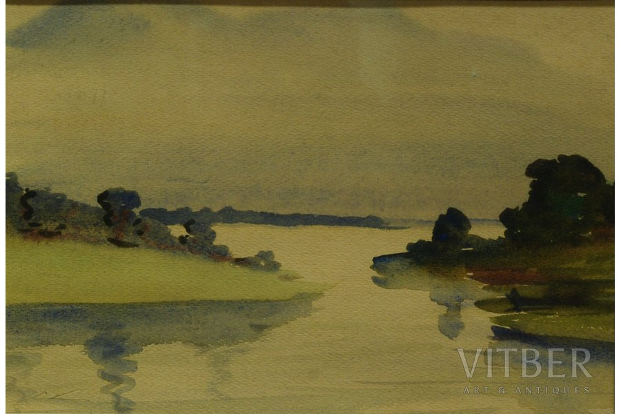 Kreics Stanislav (1909-1992), The Calm, 1968, paper, water colour, 22x32 cm