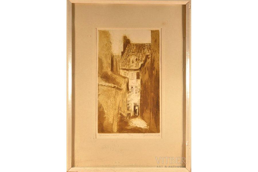 "Naftaliy Gutman (1938), ""City motif"", 1974, paper, etching, 29.7 x 17.8 cm"