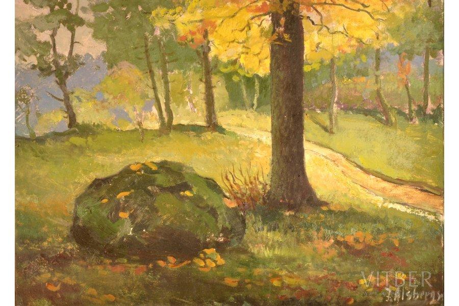 "Alsbergs Jānis (1910-1992), ""Summer"", carton, oil, 48.5 x 67 cm"
