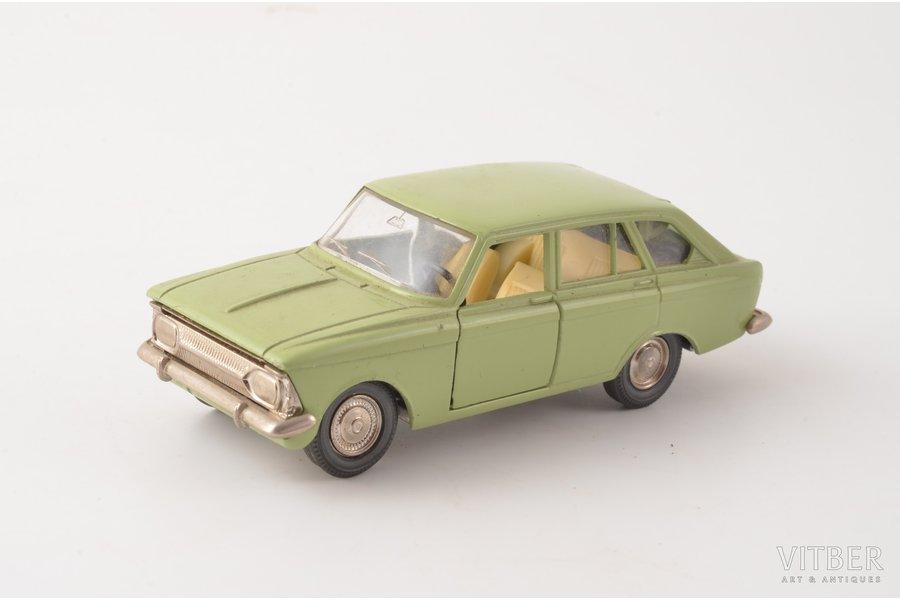 car model, Moskvitch IZH-1500-Hatchback Nr. A12, missing back window, metal, USSR, 1976 - 1982