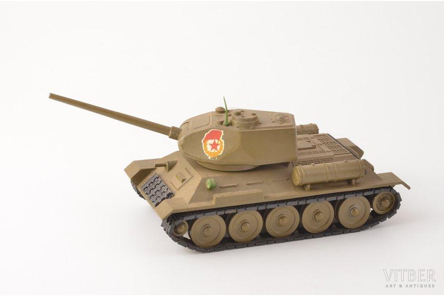 T34 tank model, metal, USSR, 198?