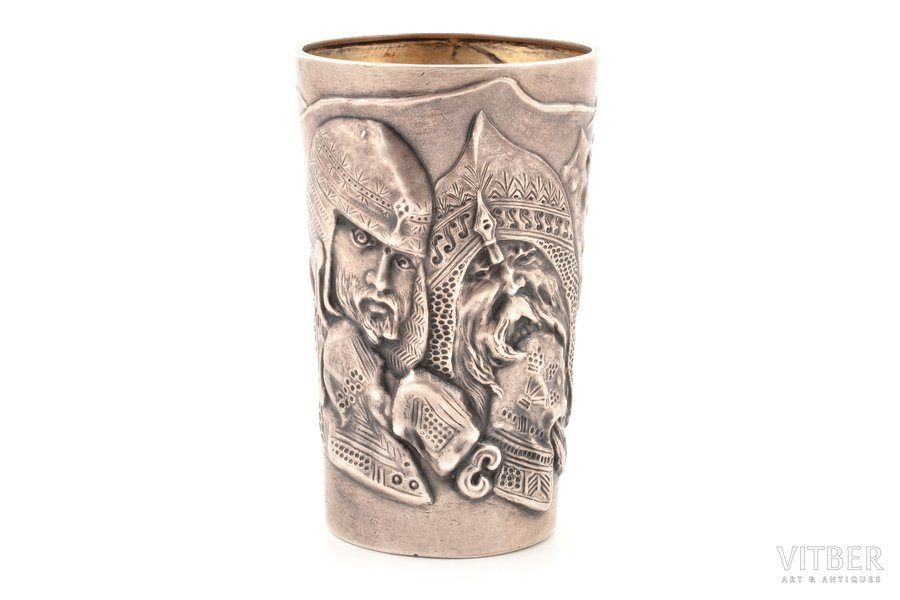 goblet, silver, 84 standart, gilding, 1896-1907, 94.85 g, by Mikhail Tarasov, Moscow, Russia, h 9.8 cm