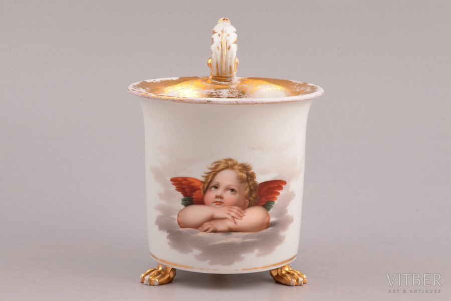 a cup, porcelain, Meissen, Germany, h (with handle) 10.6 cm