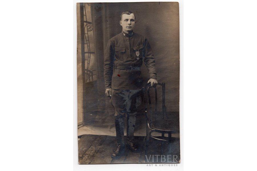 photography, chevalier of the order of Bearslayer, Roberts Kalniņš, LKOK 3/706, Latvia, 20-30ties of 20th cent., 13,6x8,6 cm