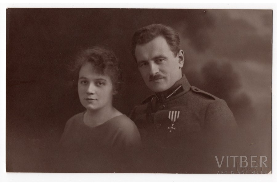photography, chevalier of the order of Bearslayer, Jūlijs Kadēlis, LKOK 3/712, Russia, 20-30ties of 20th cent., 13,6x8,6 cm