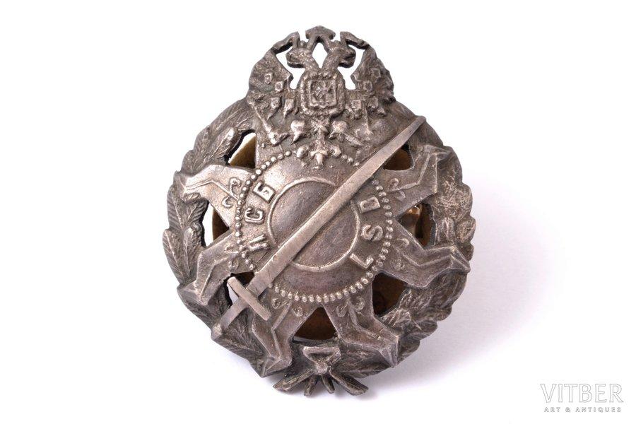 badge, Latvian Riflemen battalion, LSB, Russia, beginning of 20th cent., 44 x 36.3 mm