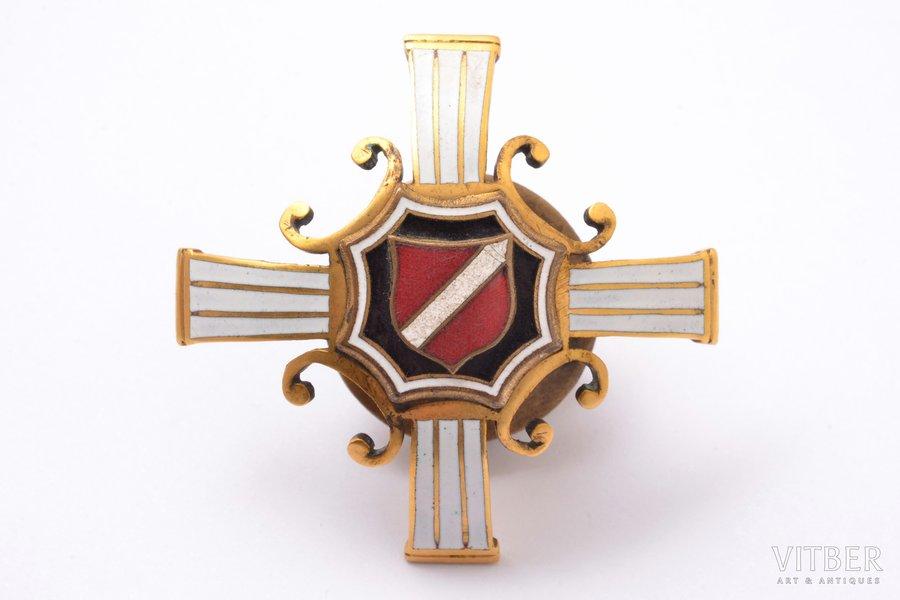 badge, 1st Latvian riflemen regiment (Troicka), Latvia, 20-30ies of 20th cent., 46 x 47.1 mm