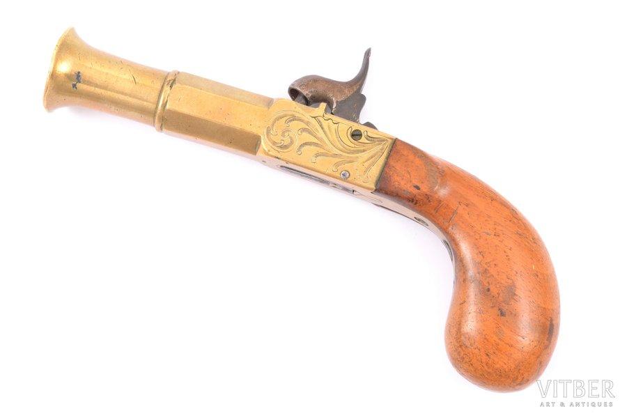 pistol, caplock mechanism, 19 cm