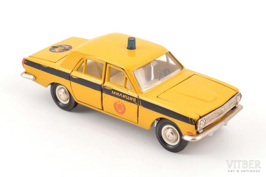 """car model, GAZ 24 Volga Nr. A26, """"Militia"""", metal, USSR, ~ 1985"""