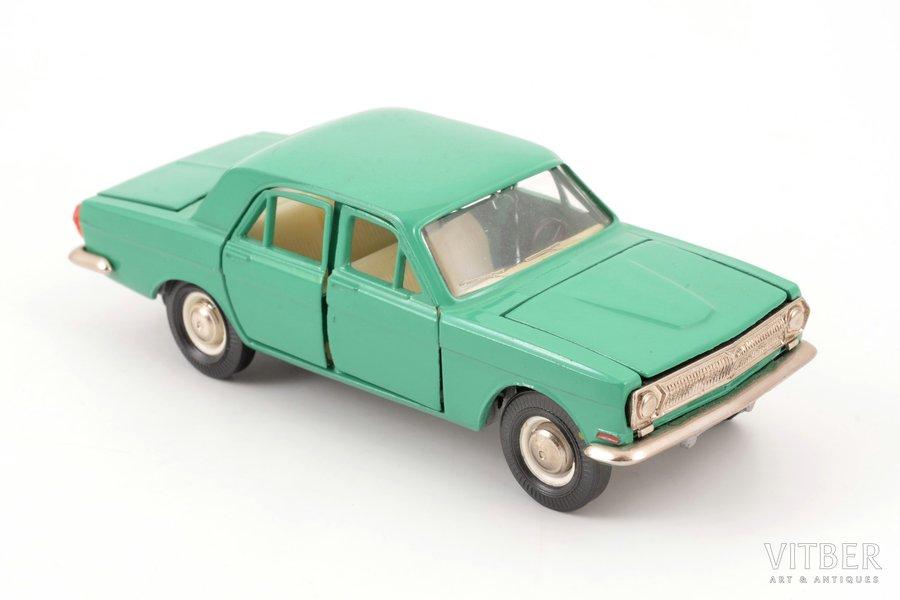 car model, GAZ 24 Volga Nr. A14, interior made of carbon, metal, USSR, ~ 1980