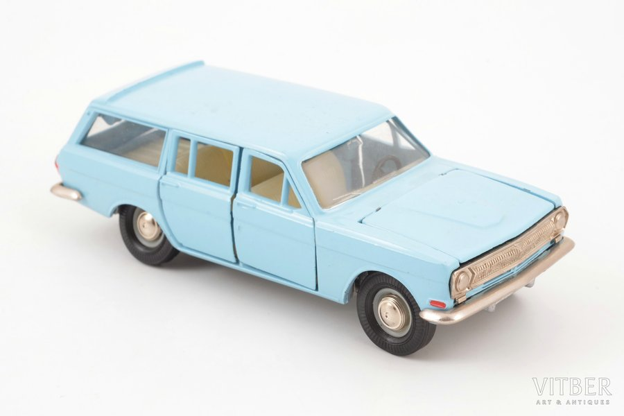 car model, GAZ 24 02 Volga Nr. A13, interior made of carbon, metal, USSR, ~ 1980
