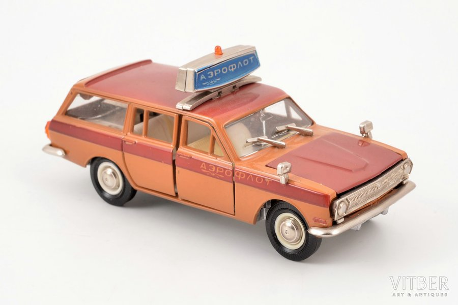 """car model, GAZ 24 02 Volga Nr. A23, """"Airforce"""", metal, USSR, ~ 1985"""