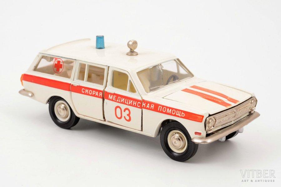 "car model, GAZ 24 02 Volga Nr. А24, ""Ambulance"", metal, USSR, ~ 1985"