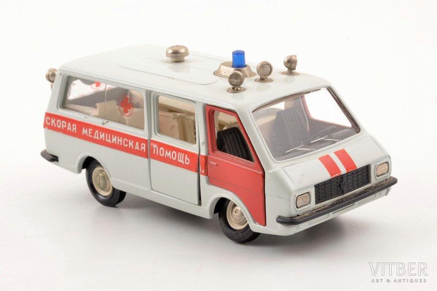 "car model, RAF-M 22031, ""Ambulance"", metal, USSR"