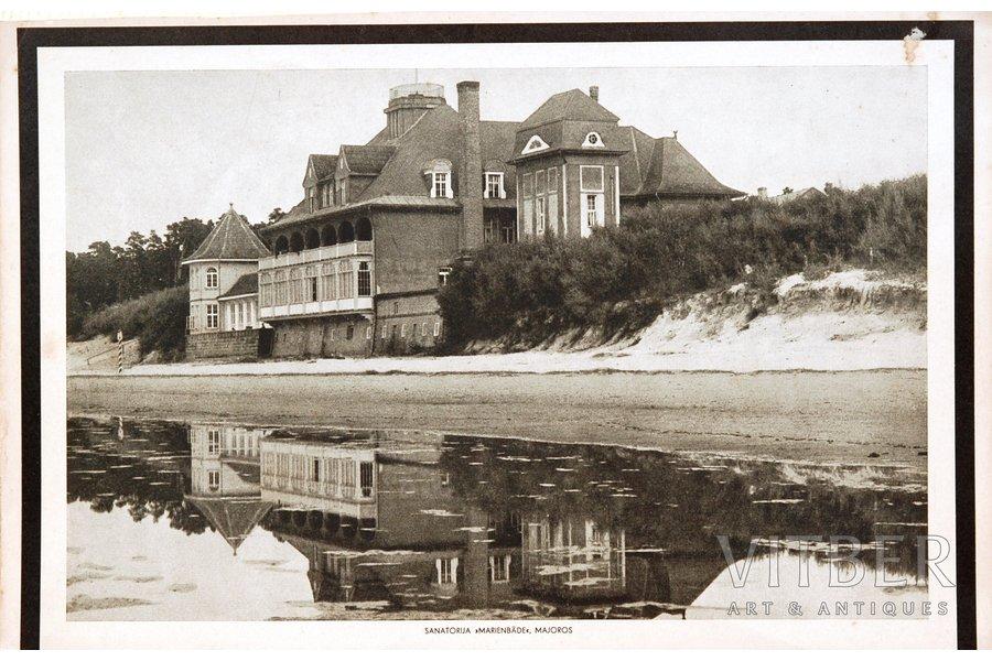"""kalendārs, Sanatorija """"Marienbāde"""", Majoros, 20. gs. 20-30tie g., 19.5 x 30.5 cm"""