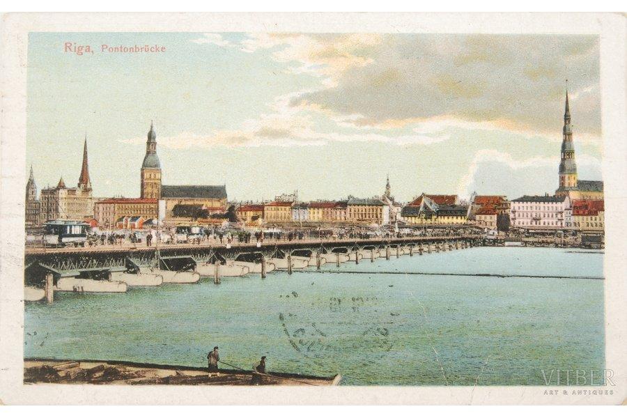atklātne, Rīga. Pontonu tilts,...