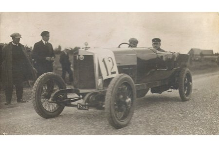 atklātne, Sporta automobilis, 20. gs. sākums, 7.5 х 13.5 cm