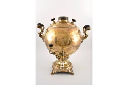 самовар, Братья Баташевы, Тула, h = 38 см, Российская империя, 19-й век, вес 4690 г