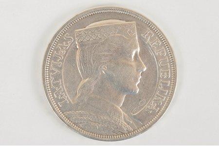 5 латов, 1931 г., Латвия, 24.93 г, д = 37 мм